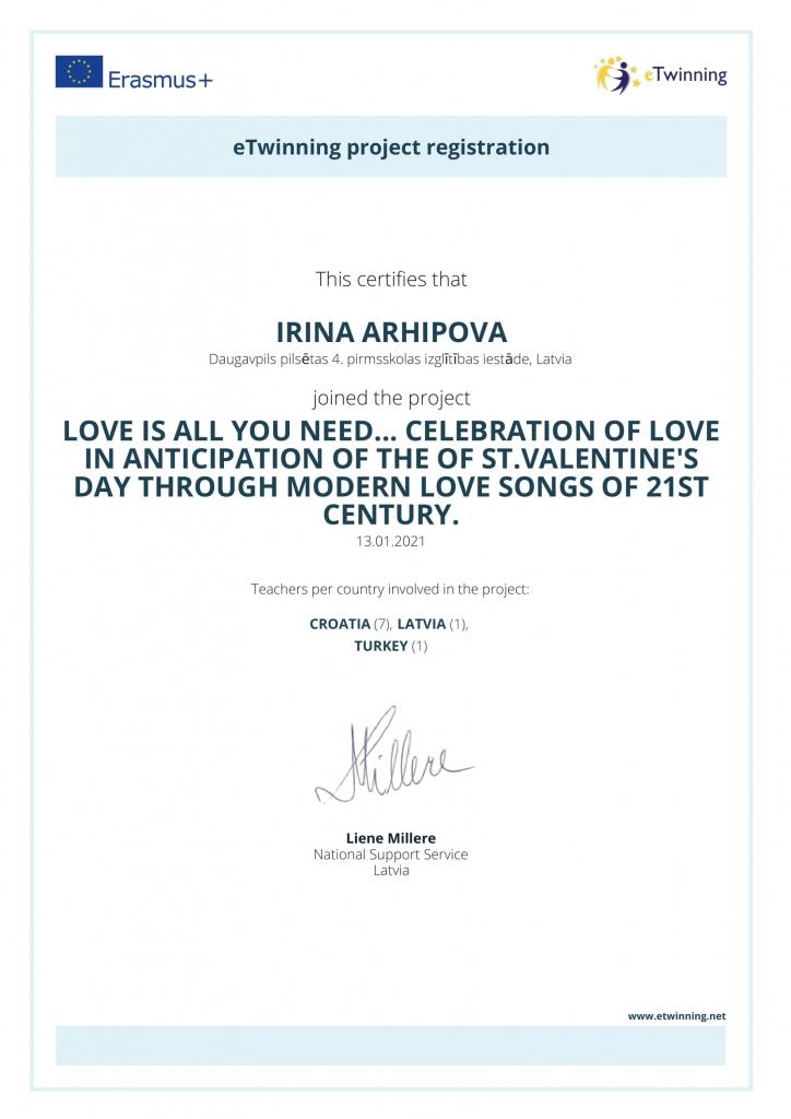 etwinning apliecinājums_Irīna Arhipova